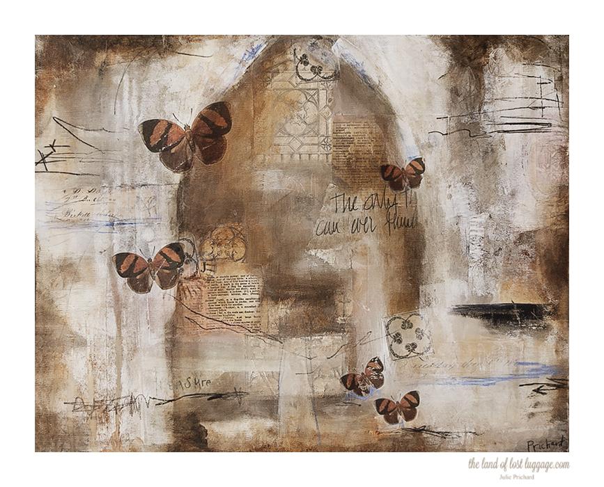 "Fading Memory, 16 x 20 x 1.25"" Gallery Canvas Mixed Media"