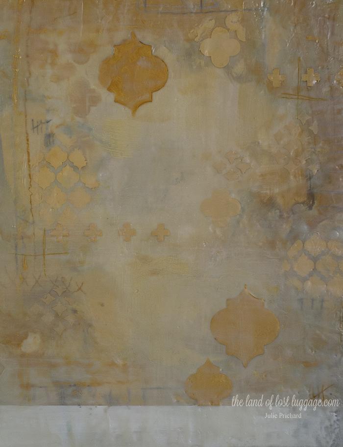 """Untitled 17"" Encaustic on cradled wood. 14 x 18"""