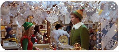 "From the movie. ""Elf"" 2003"