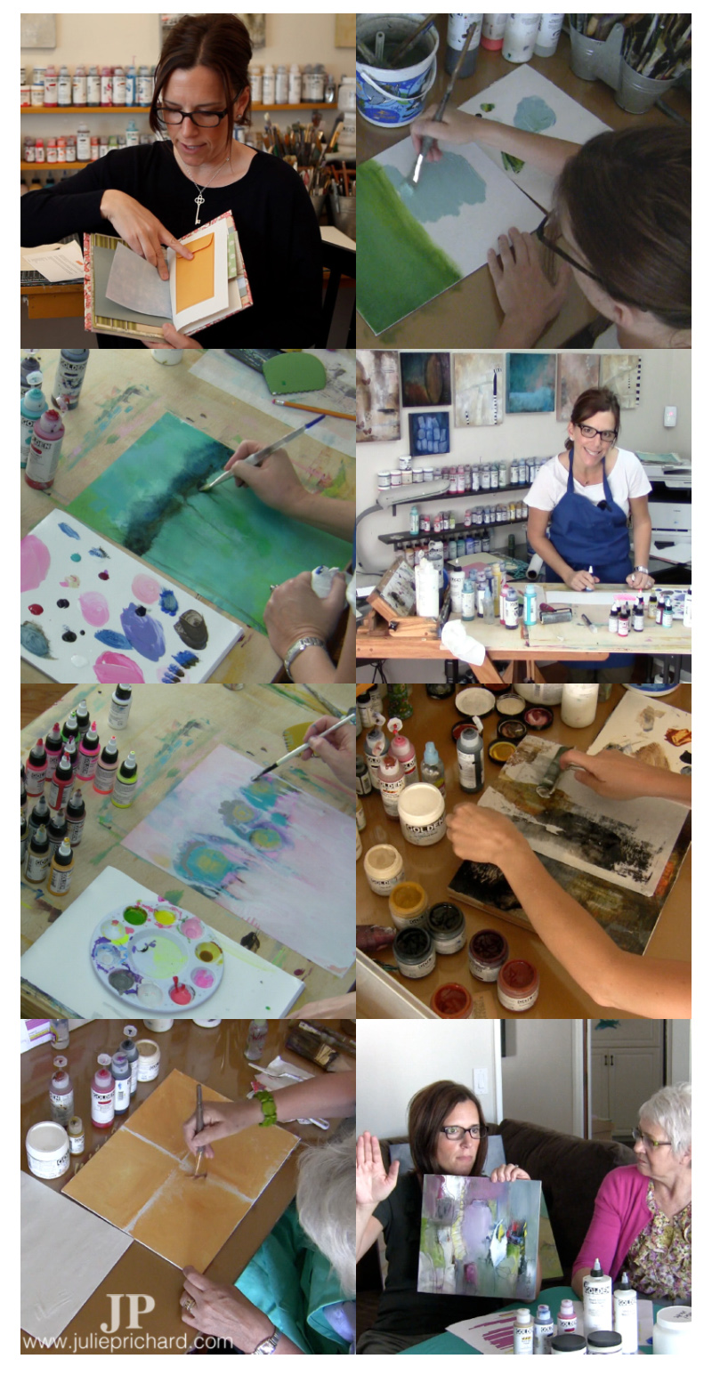 Stills taken from the videos for my online art workshops.