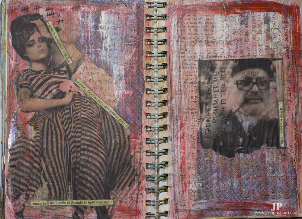 Art journal page: March 20, 2008