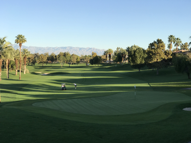 I absolutely love walking near and staring at Golf Courses...especially ones like this one in Palm Desert!