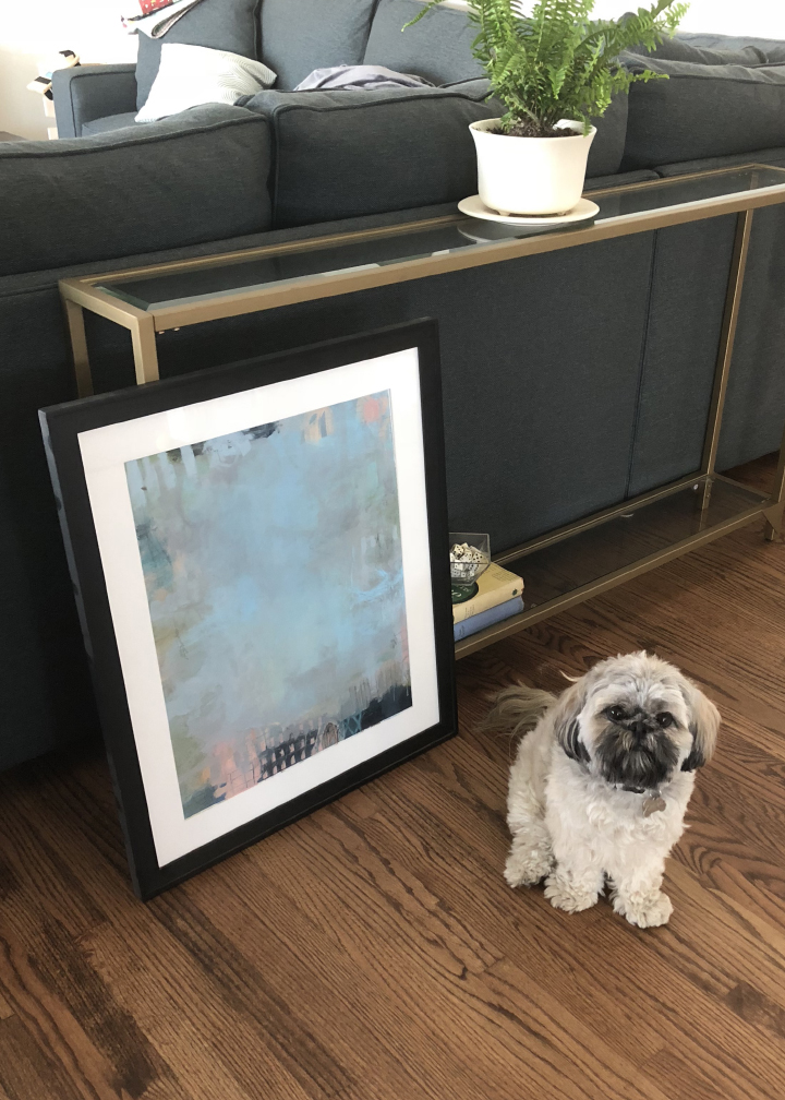 """Everywhere"" Original painting.  Click here  for more info. (Dog not included.)"