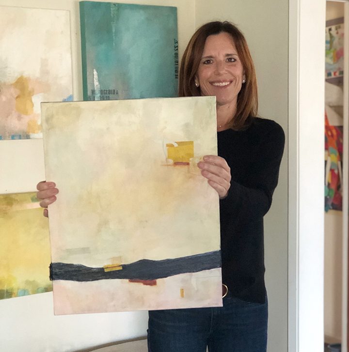 Julie Prichard teaches mixed media art online.