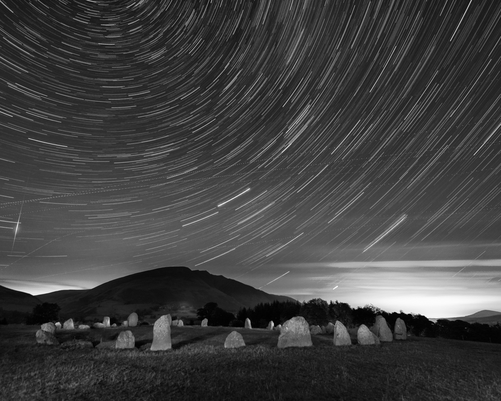 Star Trails above Castlerigg Stone Circle