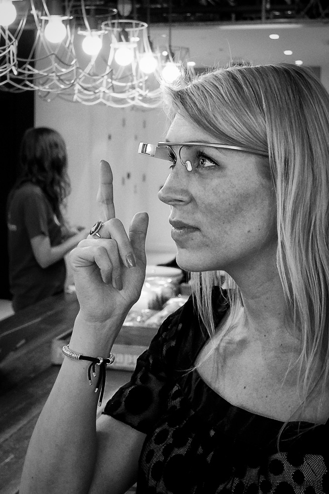 Google Glass in action in the UKooG