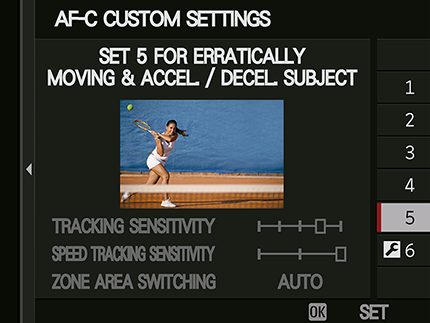 AF-C Custom Settings Set 5 Erratically Moving & Accel / Decel Subject