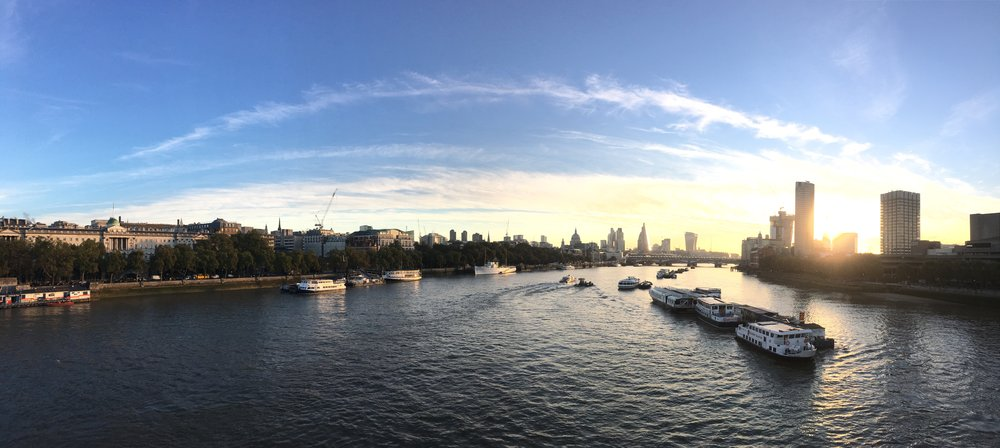 iPhone Panoramic of the view from Waterloo Bridge, London