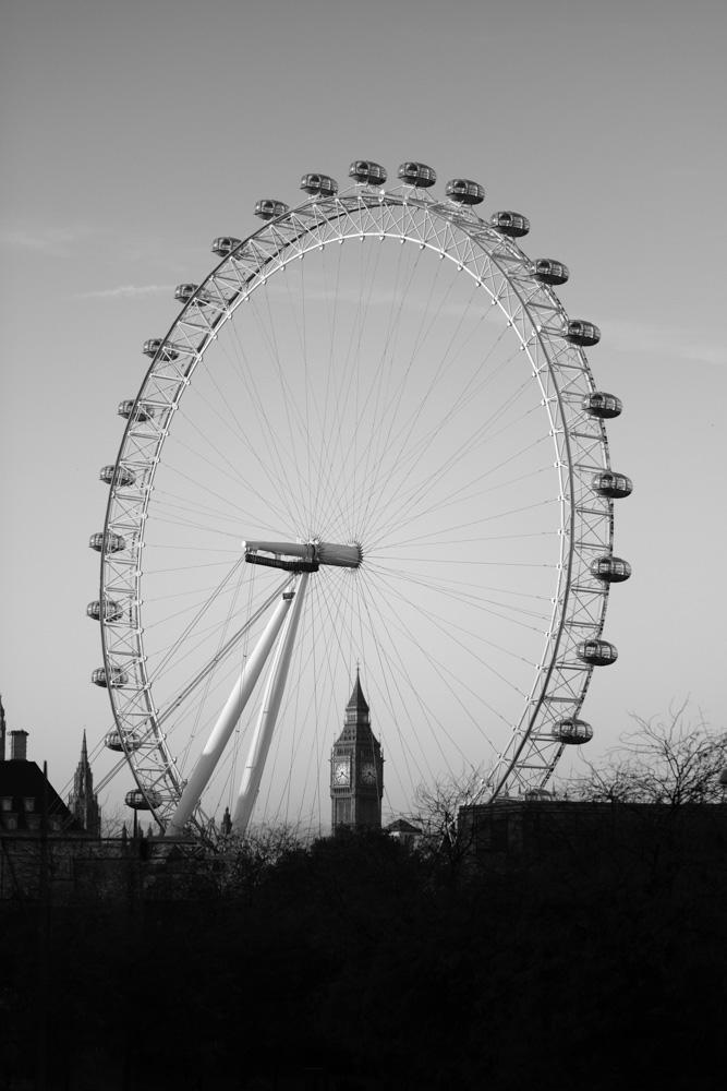 London Eye and Big Ben -Fuji X-T2 56mm @ f1.2