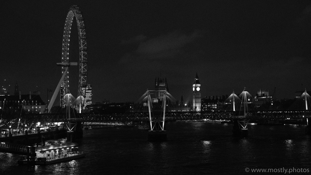 Fuji X-T2 ACROS - London Eye and Big Ben