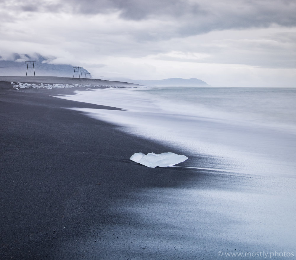 Fuji X-T1 - Ice and Black Sand beaches near the Jokulsarlon glacial lagoon