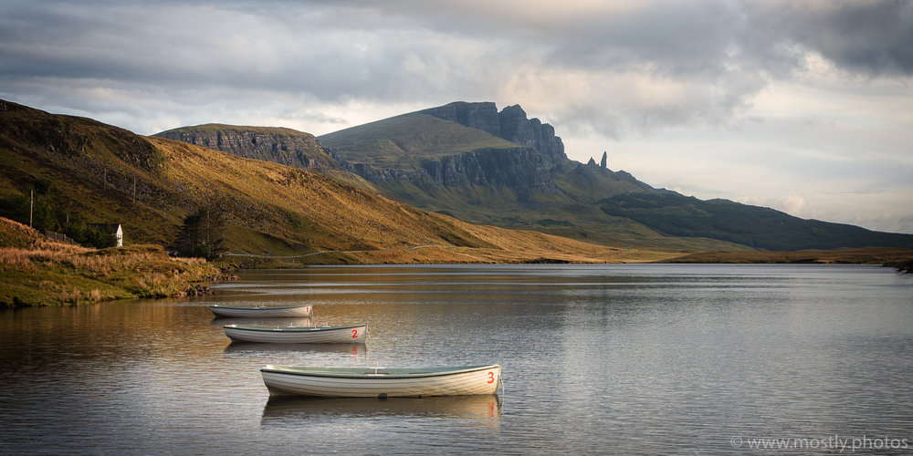 Three Boats - Loch Leathan, Isle of Skye, Scotland