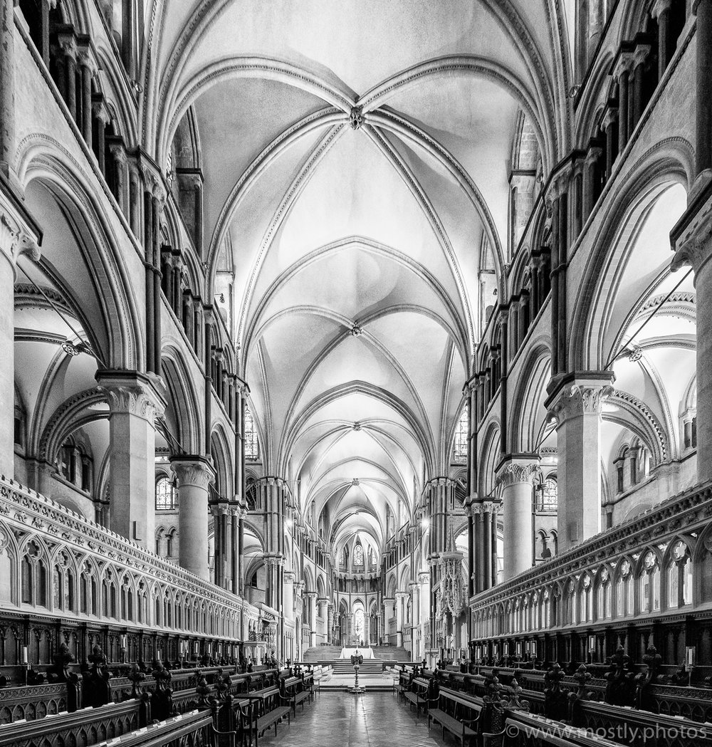 Fuji X-T2 Interior of Canterbury Cathedral