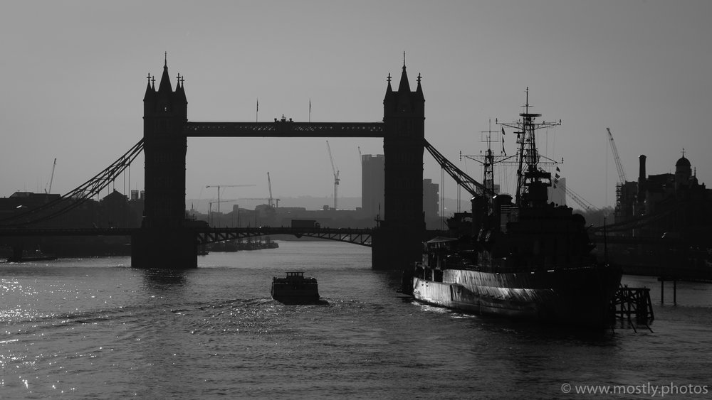 Fuji X-T2 and 18-135mm Tower Bridge Silhouette
