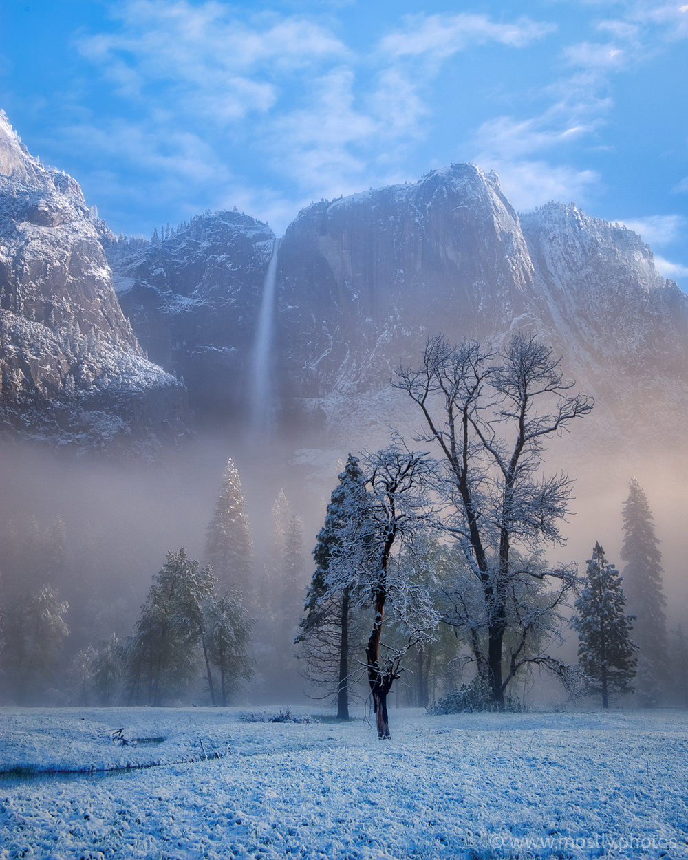Yosemite National Park in the Snow