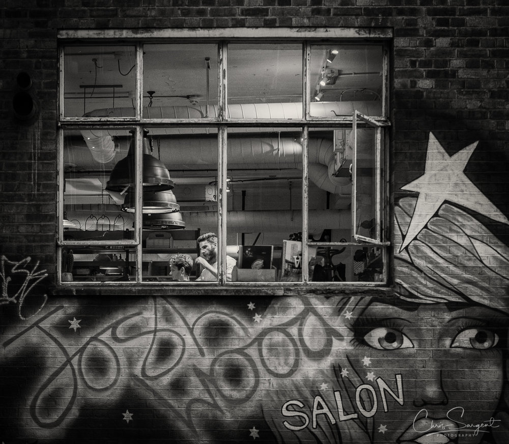 Fuji X-T2 Barber at work in Shoreditch, East London