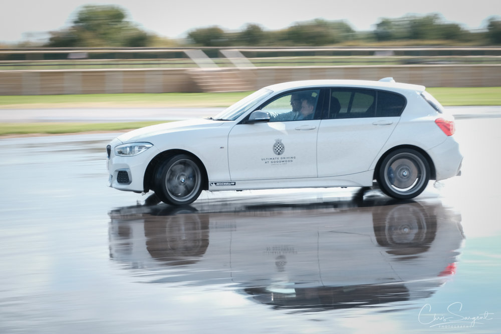 Fuji X-T3 and 18-135mm Slow shutter speed panning BMW power Slide
