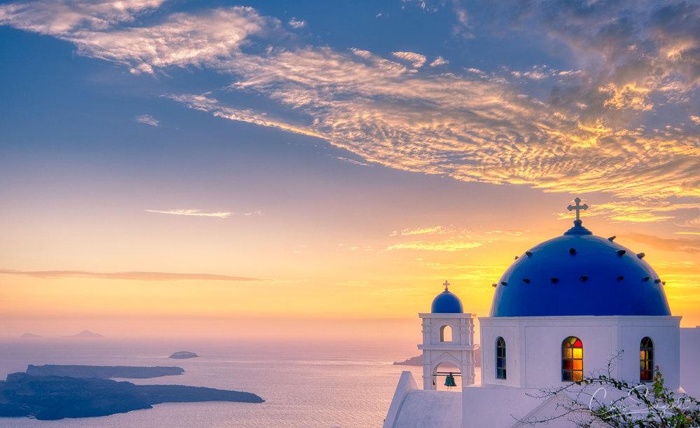 Santorini Sunset Fuji X-T3 HDR