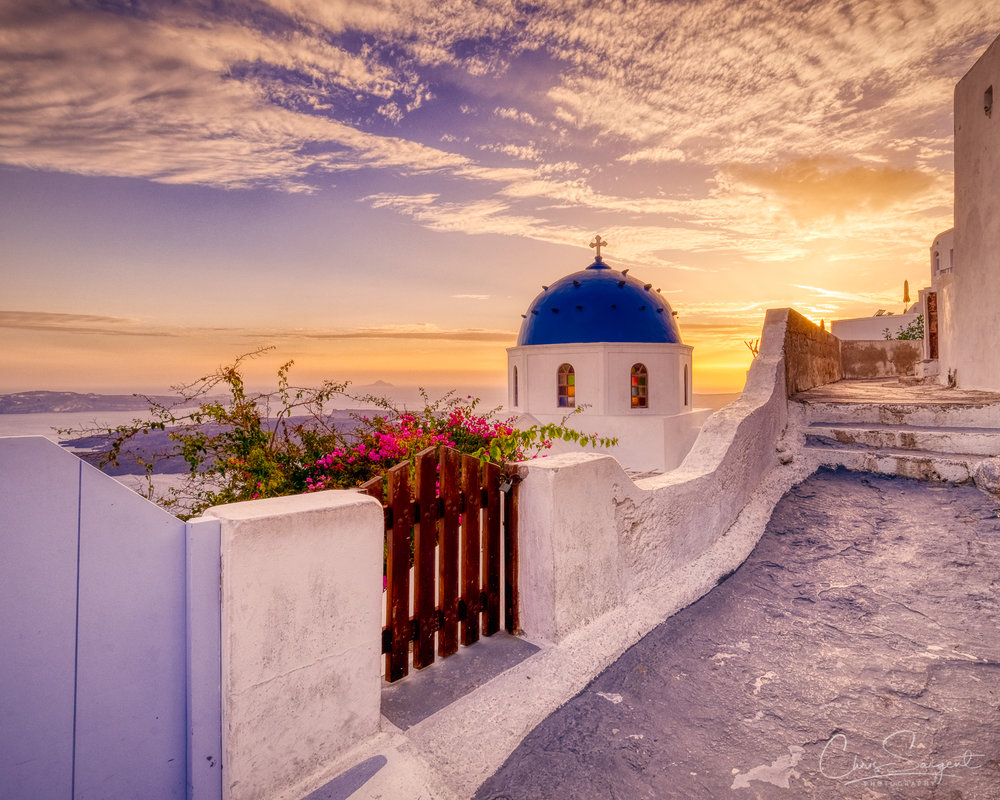 Santorini Sunset Fuji X-T3 HDR created with Aurora HDR 2019