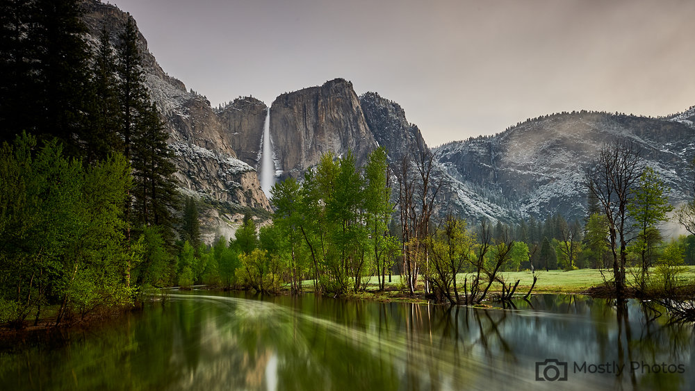 Yosemite Falls from Swinging Bridge - Capture One Pro 12 Edit of Nikon RAW