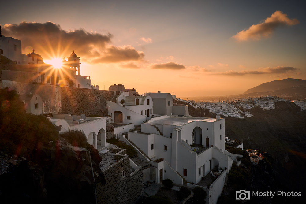Dawn Light over Santorini, Greece Fuji X-T3 and Fuji 10-24mm