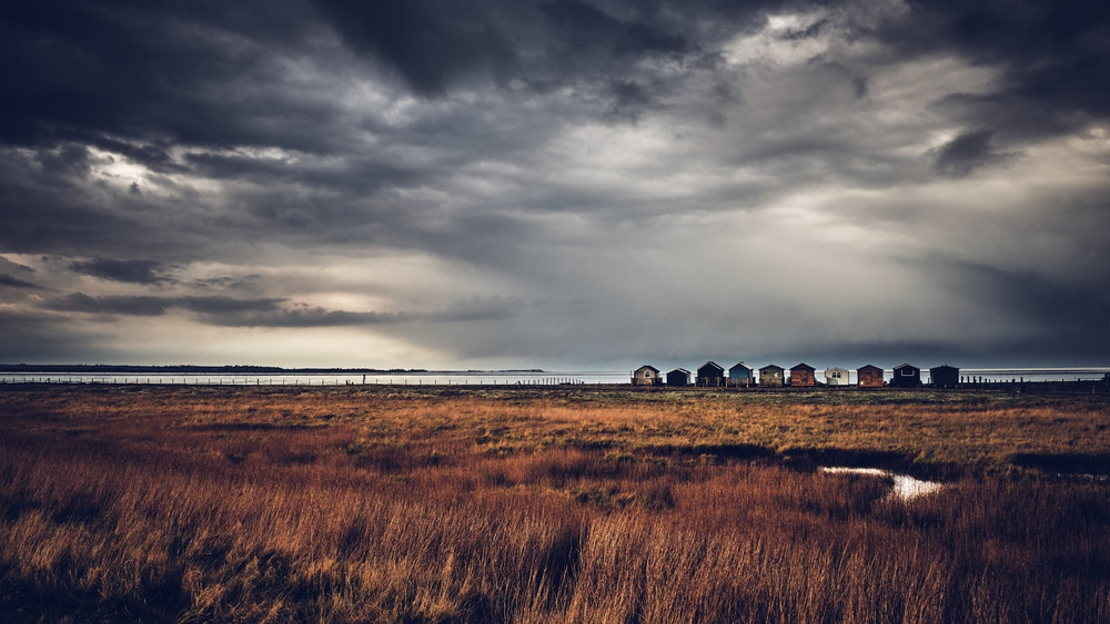 Wooden Beach huts near Whitstable, UK Fuji X-T3 and 16-55mm
