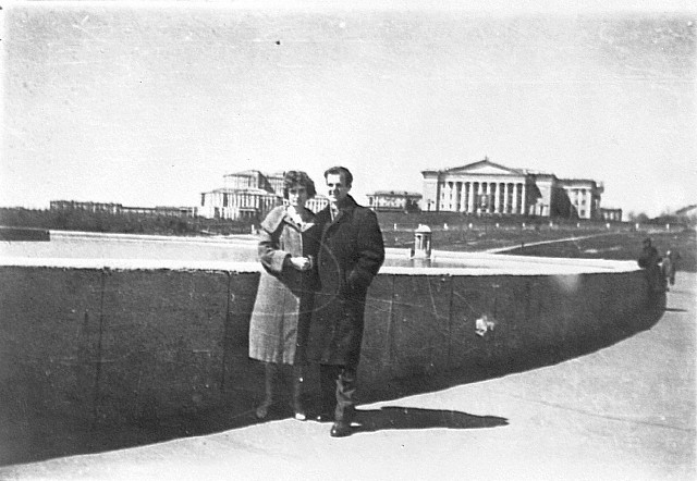 Oswald and his wife Marina in Minsk.