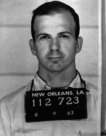 Mug shot of Oswald after his arrest in New Orleans