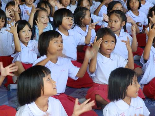 Kids at church.