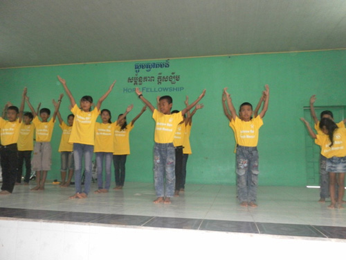 BB1 performing a dance at church.