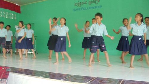 Kids performing at church.