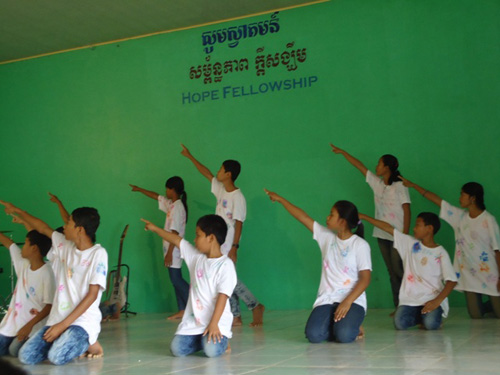 BB6 kids performing at church.