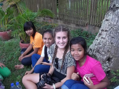 Australian Students visit Prek Eng Kids.JPG