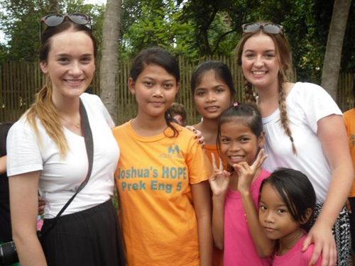 There was a team of students visiting from an Australian church, as well.