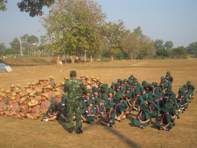 Almost all Thai children go through a scout program, much like the Boy/Girl Scouts in the U.S. These are a few pictures of them at scout camp.
