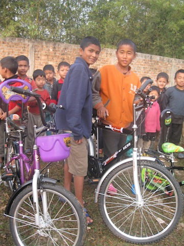 Thanks to the generosity of supporters at Lake Forest Church in North Carolina (the sponsoring church of KP1), the kids were able to get new bicycles!