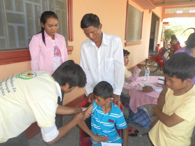 Some of the BB1 children received vaccination updates.