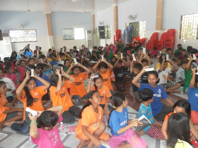 Many of the Battambang kids participated in a day of prayer and fasting.