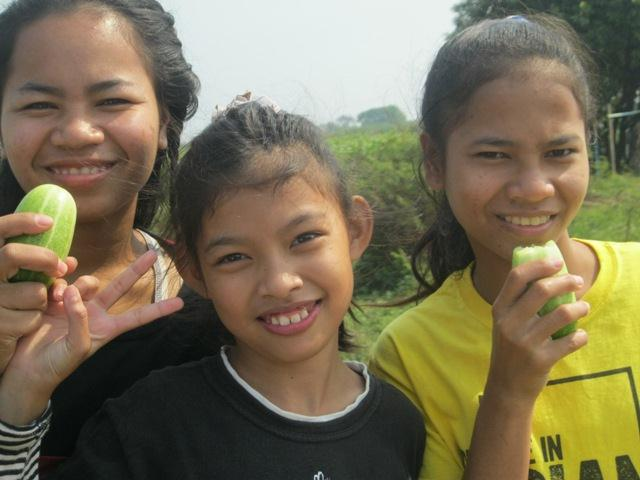 The kids enjoy a wide variety of delicious, locally-grown produce.