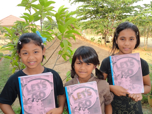 The Battambang 7 kids love to study English.