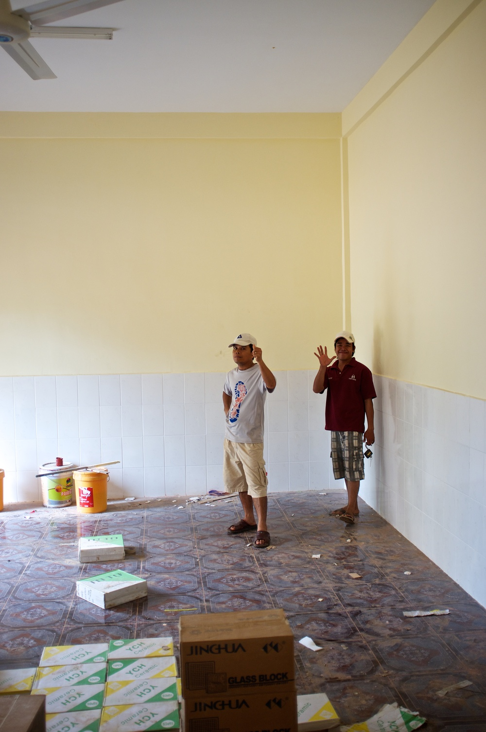 Interior work on Prek Eng 2 home living room