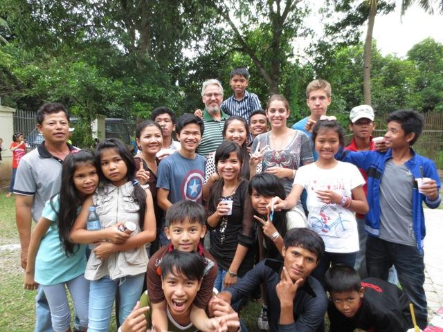 Robert Hunger, an Asia's Hope supporter from Canada, came with his family and threw a big party for all of the Prek Eng kids.