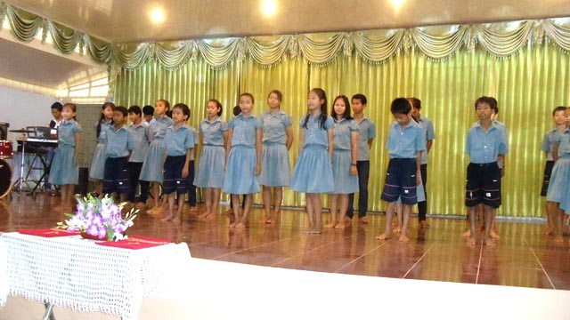The children of Battambang 5 can take pride in their skillful performance at church.