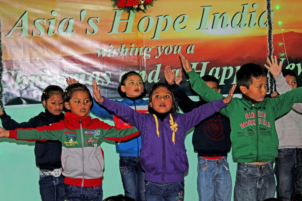 One of the many special Christmas performances by the children of Asia's Hope.