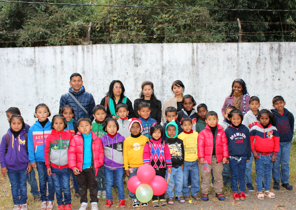 The staff and children of Kalimpong 2.