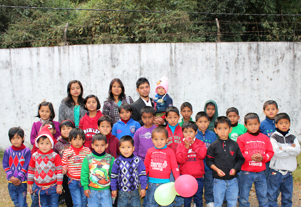The children and staff of Kalimpong 3.