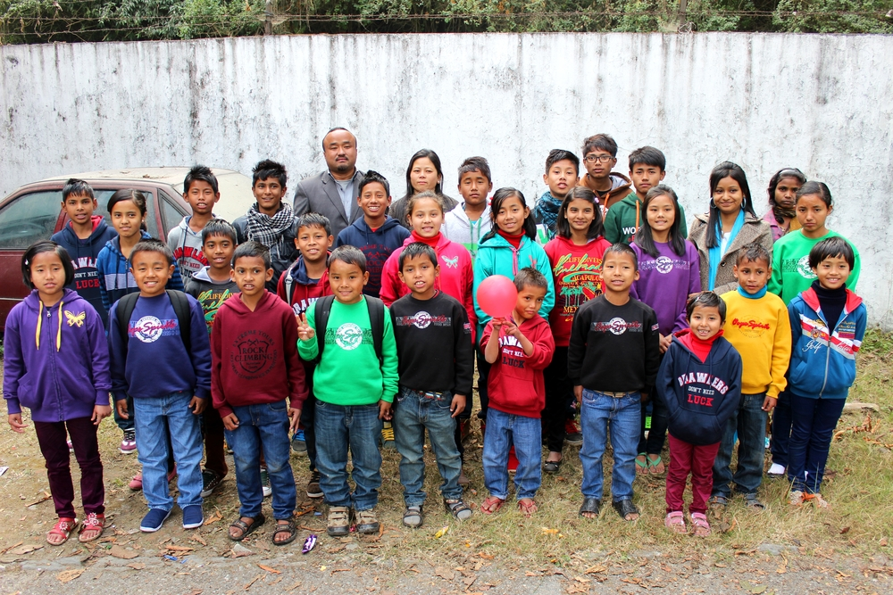 The Children and staff of the Kalimpong 1 children's home.