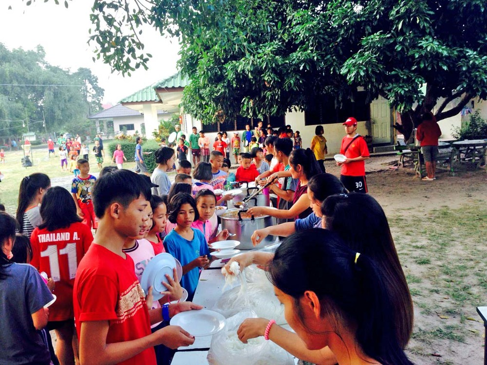 One of the many special meals enjoyed by the children of Doi Saket 1 and Asia's Hope Thailand.