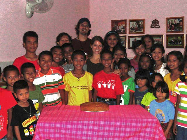 Celebrating with the Battambang 7 family.