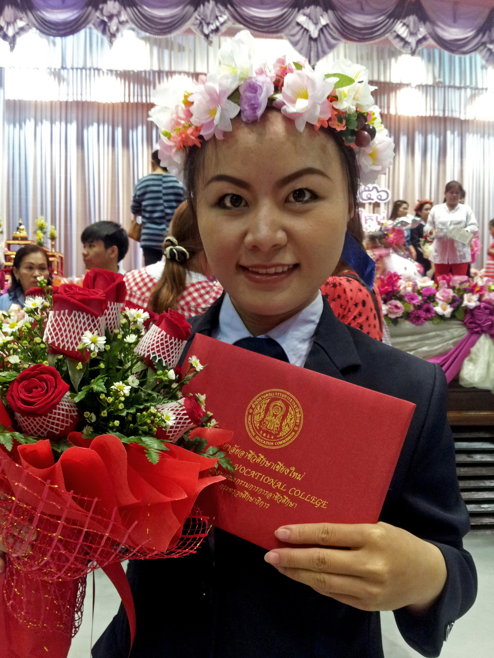 Degree in hand, this young lady plans to continue her education at a local university. Congrats on the result of all your hard work!